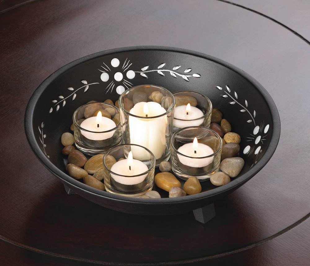 Decorative candle display set